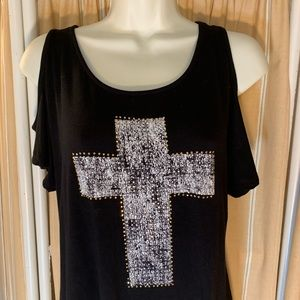 Occasion Embellished black T shirt size L